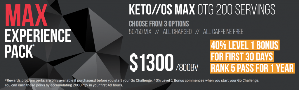 Keto Max Experience Pack