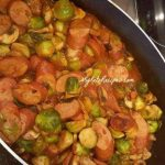 Garlic Brussel Sprouts with Sausage
