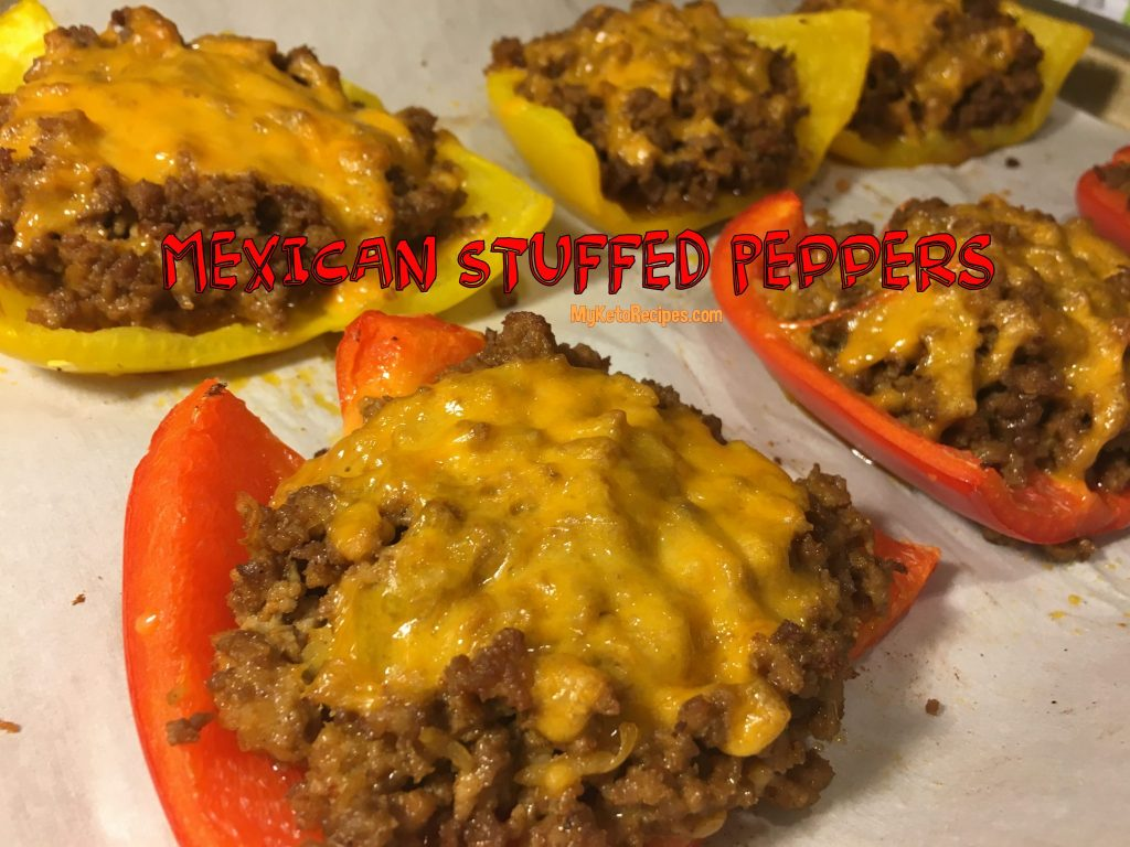 Keto Mexican Stuffed Peppers