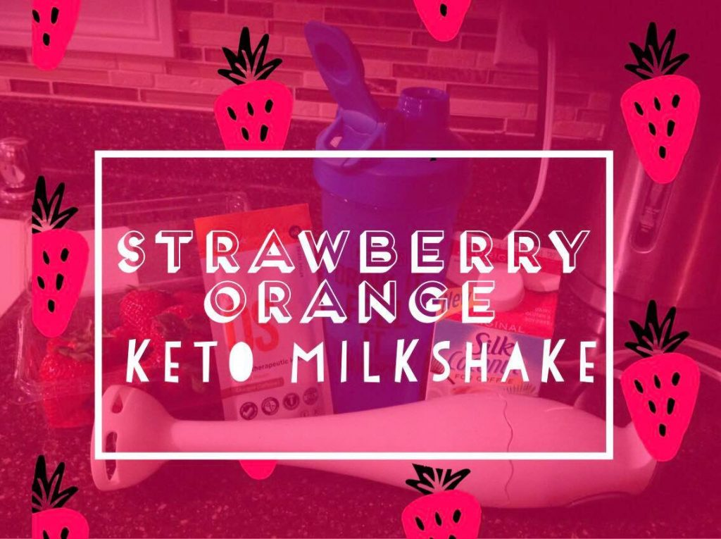 Strawberry Orange Keto Milkshake