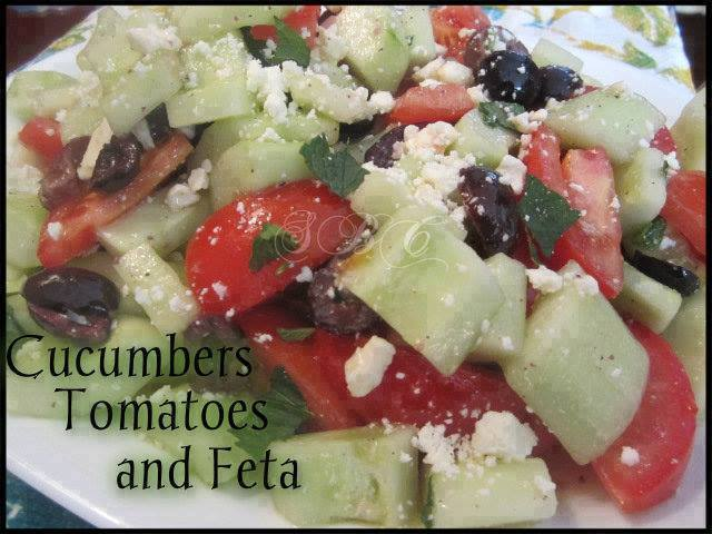 Cucumbers, Tomatoes, and Feta Yummy Salad