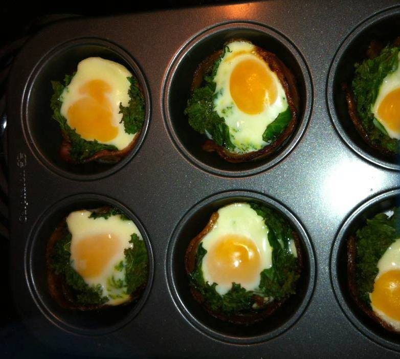 Bacon Egg and Kale Cups