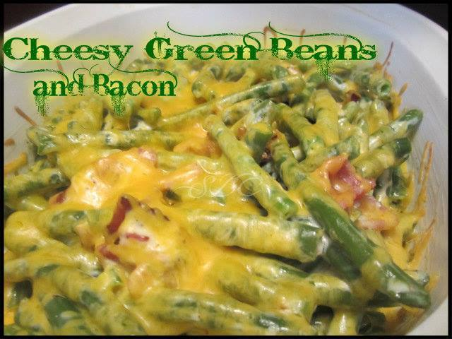 Cheesy Green Beans with Bacon